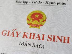 ベトナム人の帰化申請に必要な出生証明書/Giấy khai sinh