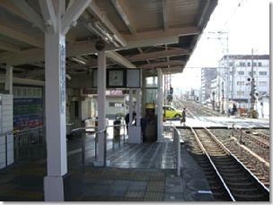 帰化で岸和田支局に行く最寄駅/和泉大宮駅下りホーム